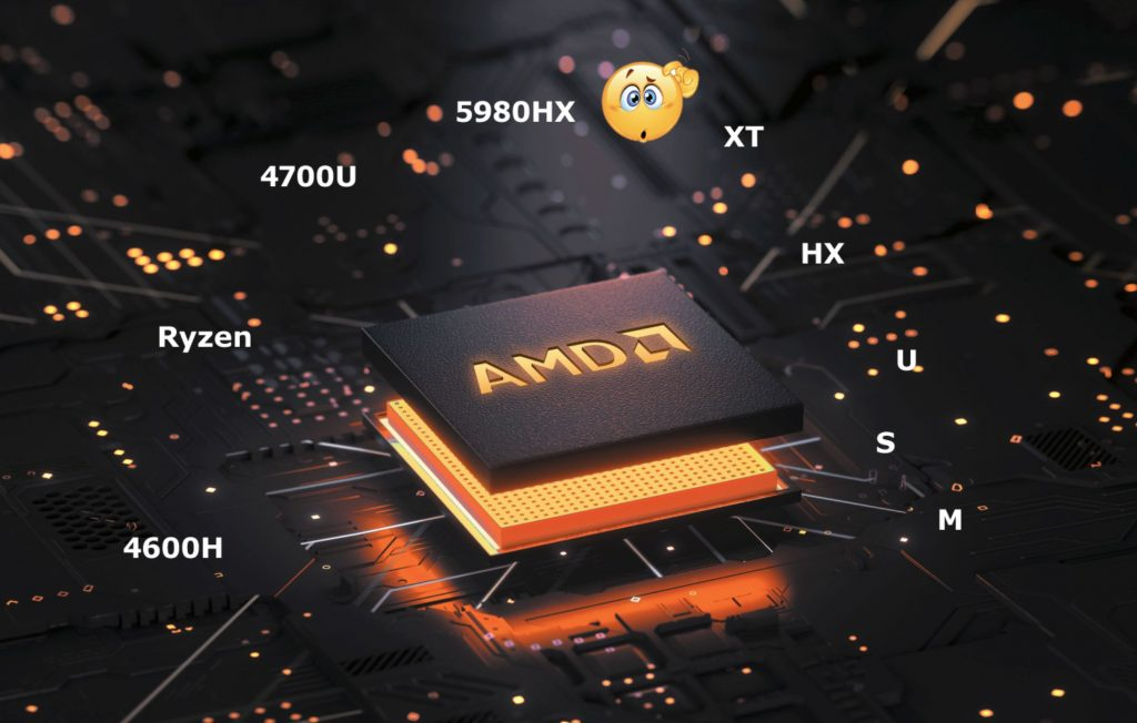 AMD Ryzen CPU Letter Suffix meanings