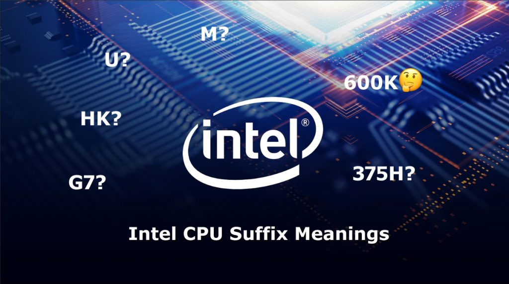 Intel CPU Suffix letters Meaning