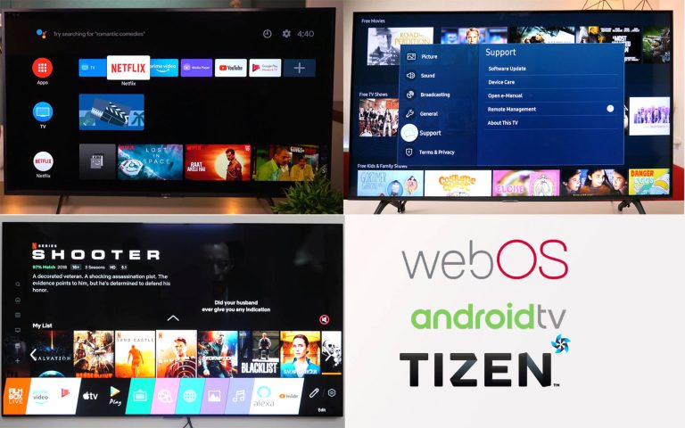 Android TV and webos