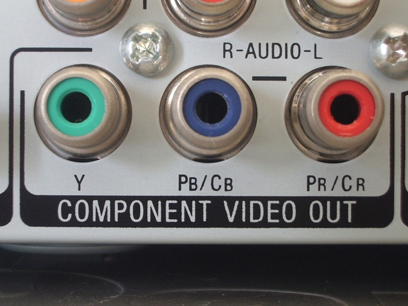 Component video port in tv